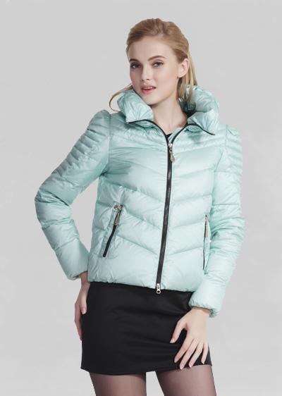 威伦蒂2014秋冬季新款女装泡泡袖短款羽绒服
