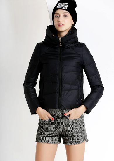 2015威伦蒂新品羽绒服 冬季时尚短款堆堆领糖果色羽绒服外套