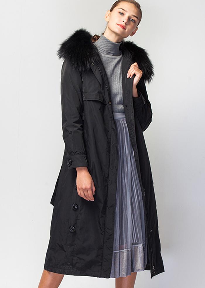 威伦蒂长款派克大衣羽绒服
