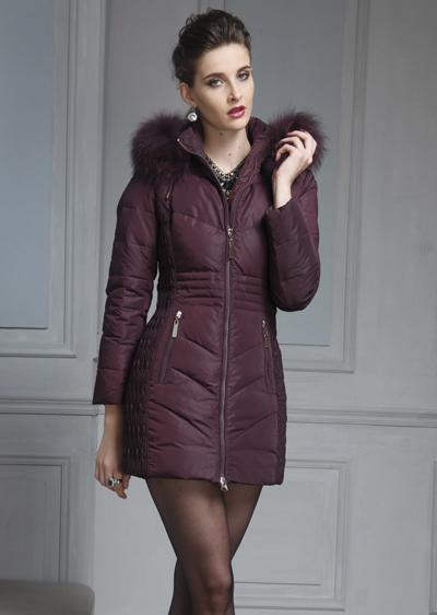威伦蒂冬季新款女中长款女式修身羽绒服NX08-2