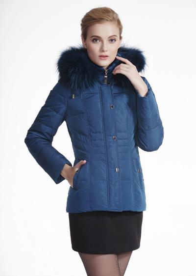 威伦蒂新款女款冬装修身女士白鸭绒羽绒服 新款女式羽绒服