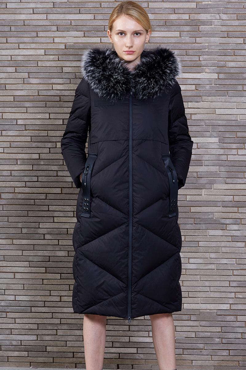万博最新版下载新中长款修身时尚大毛领女