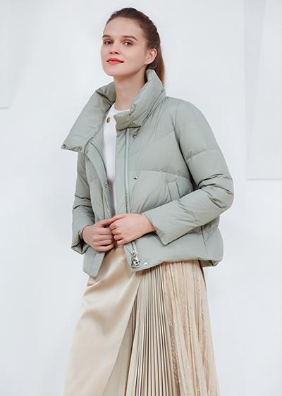 威伦蒂2020新款彩色立领短款羽绒服